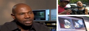 Antoine Fuqua (left) and some of the students at work (right) - images courtesy of CNN