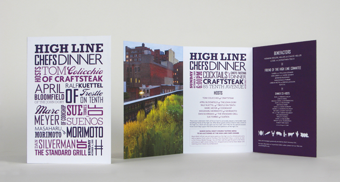 High Line Chefs Dinner Invite